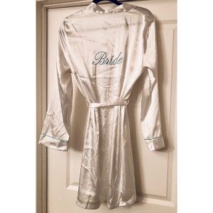 Embroidered Satin Bride Robe